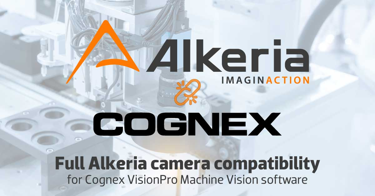 Full Alkeria camera compatibility with Cognex VisionPro Machine Vision software